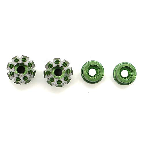 - RCAWD M3 3D Style Gimbal Stick End N10267 Aluminum Alloy CNC Machined for Futaba Spektrum Frsky Etc(Green)