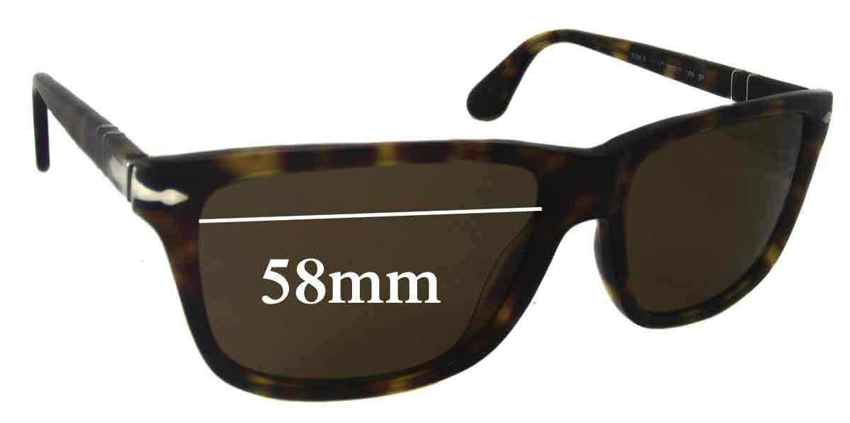 SFX Replacement Sunglass Lenses fits Persol 3026 S 58mm Wide
