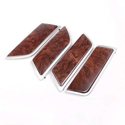 4pcs Rose Wood Grain For Land Rover Discovery 5 L462 2017 2018 ABS Interior Door Decoration Panel Cover Trim Replacement Parts