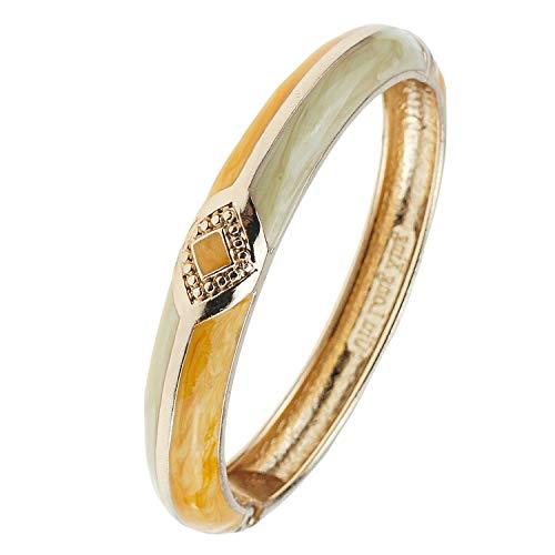 Enamel Silver Vintage Bracelets - UJOY Vintage Bracelet Colorful Cloisonne Women Girls Hinged Bangles Enameled Bracelets Jewelry Gifts 55A41 Knot Orange