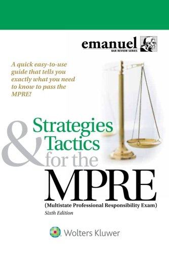 Pdf Law Strategies & Tactics for the MPRE (Multistate Professional Responsibility Exam) (Bar Review)