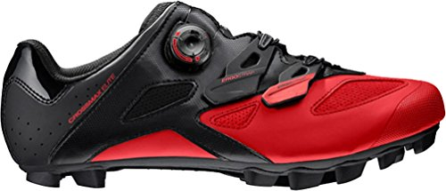 Mavic Crossmax Elite Cycling Shoe - Men's Black/Fiery Red, US 11.5/UK 11.0