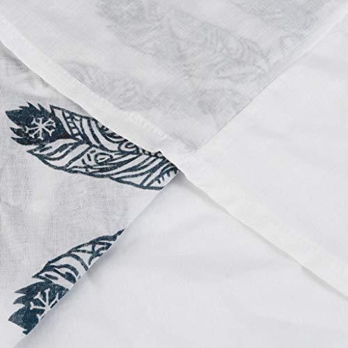Blanc Pois Patte boutonne Femme Tunique Chemisier Chemise Courtes Kanpola Col Women Manches CtqAwP