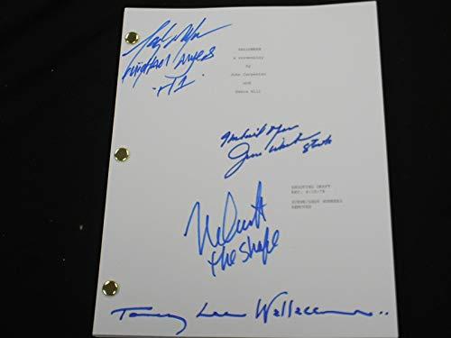 4 Original Michael Myers Signed Halloween SCRIPT Nick Castle Tony Moran JIm Winburn TL Wallace RARE