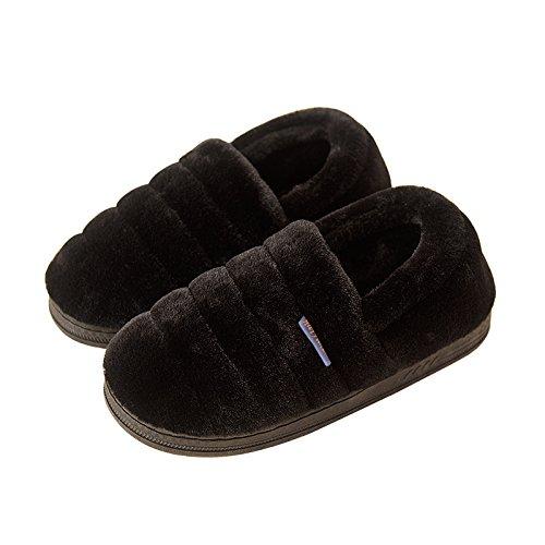 Pantoufles D'hiver Habuji En Coton Avec Sac À Talon Et Sac De Maternité Chaud Au Bureau Chaussures Post-partum, 39-40, Hommes Noirs