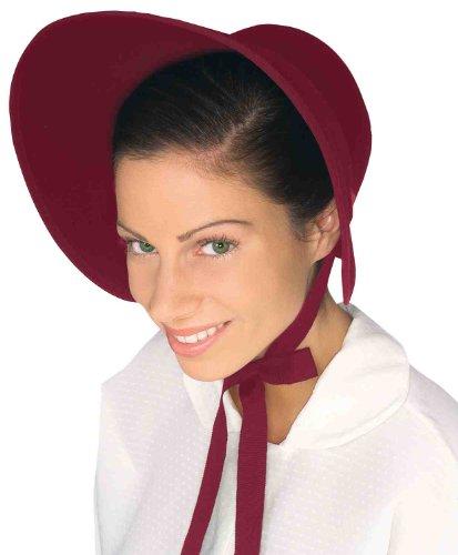 Forum Novelties Felt Bonnet, Burgundy -