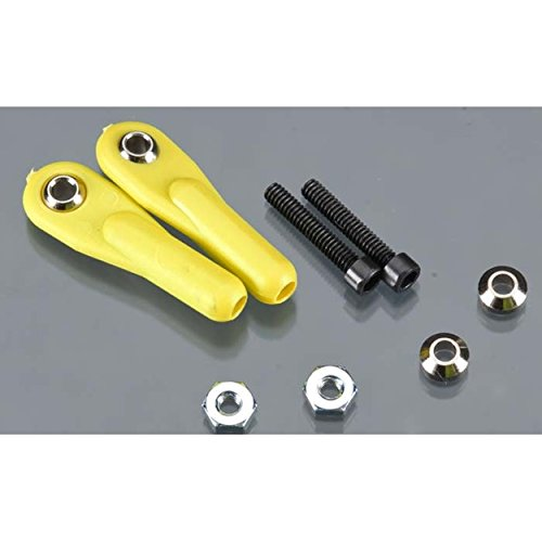 Swivel Ball Link w/ Hardware, 2-56, Yellow, 2/pk (Swivel Links 56 Ball)