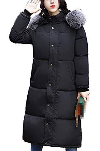 Cappuccio Invernali Autunno Giacca Cerniera Con Giacche A Nero Cappotto  Trapuntata Collo Sintetica Manica Festa Style Piumini Pelliccia ... a3ee730340a