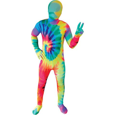 Tie Dye Kids Morphsuit Costume - size Large 4'-4'6 - To Hippie How Costume Make