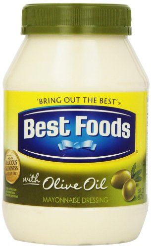 Best Foods, Mayonaise Dressing with Olive Oil, 30oz Jar (Pack of 2)
