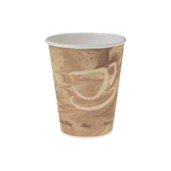 SOLO 378MS-0029 8-oz. Mistique Single-Sided Poly Paper Hot Cup (Pack of 1000)