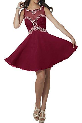 La Weinrot Chiffon Standsamt Partykleider Kleider Abendkleider A mit ...