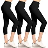 Leggings Depot High Waisted Leggings -Soft & Slim -...