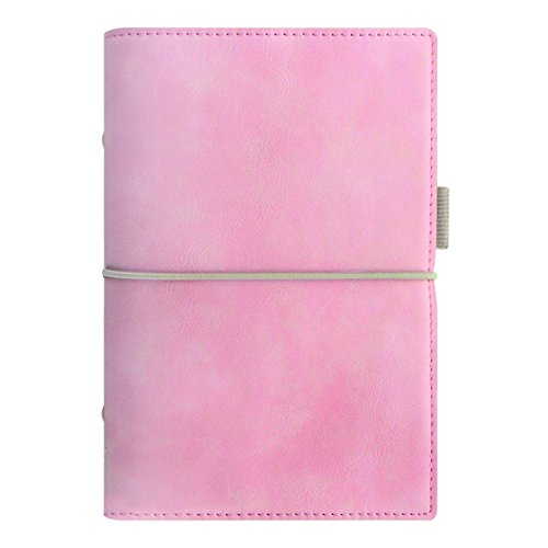 Filofax 2018 Domino Soft Organizer, Personal (6.75 x 3.75), Soft Pale Pink, Planner with to do and Contacts Refills, Indexes and notepaper (C022577-18)