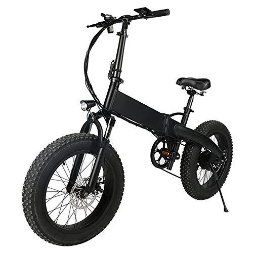 HJHJ Bicicleta eléctrica Plegable, Motocicleta híbrida para Adultos (48V10AH) Bicicleta eléctrica Urbana de 20 Pulgadas con iluminación Amortiguador mecánico Horquilla Delan