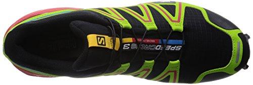 Salomon Speedcross 3 - Zapatillas de correr en montaña para hombre Black/Granny Green/Rd