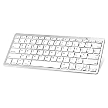 MoKo Ultra-slim Wireless Bluetooth Keyboard, Universal Mini Bluetooth Keyboard for Apple iPad Mini 4 / iPad Pro / iPhone 6s Plus / 6s, Android Smartphones / Tablets (Android 4.0 or above), SILVER