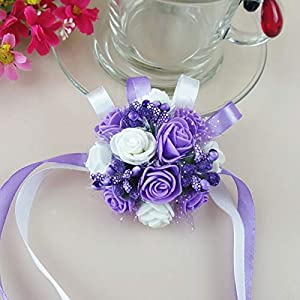 Artificial & Dried Flowers - Wrist Corsage Bridesmaid Sisters Hand Flowers Artificial Bride Party Decor Bridal Prom 2019 - Flowers Dried Artificial Artificial Dried Flowers Hair Sunflower W 9