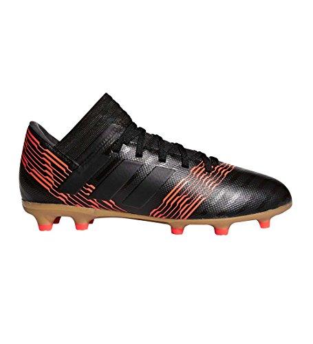 adidas Performance Boys' Nemeziz 17.3 FG J, Core Black/Core Black/Solar Red, 5.5 M US Big Kid