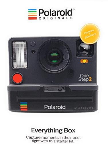 Polaroid Originals 9002 OneStep 2 Instant Film Camera, Graphite, Black Everything Box w/8ct Color Film Pack