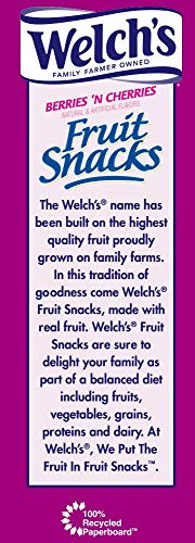 WELCH'S Berries 'n Cherries Fruit Snacks, 0.9 Ounce, 65 Count (65 Count) by Welch's (Image #3)
