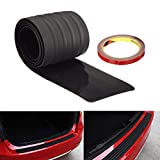 iJDMTOY (1 Black Rubber Rear Trunk Edge Guard Scratch Protector Cover Mat w/Double-Sided Tape for Car SUV Jeep, etc