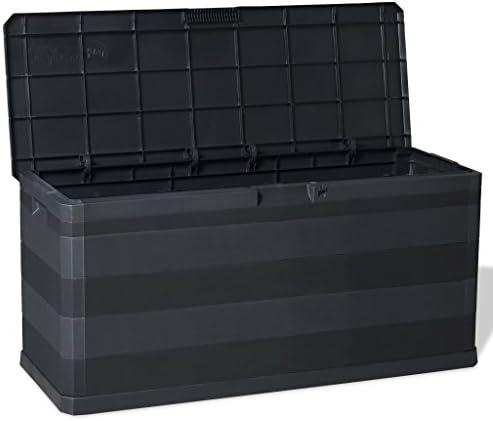 Irfora Gartenbox Schwarz 117×45×56 cm