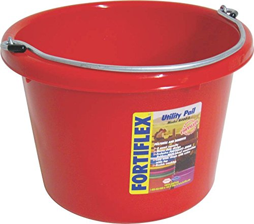 FORTEX INDUSTRIES 280046 Utility Pail Red, 8 Quart