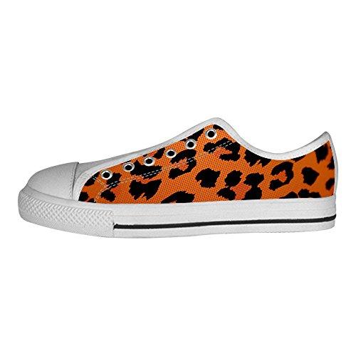 Custom Print Leopard Womens Canvas Shoes Los Cordones Zapatos High Top Sneakers