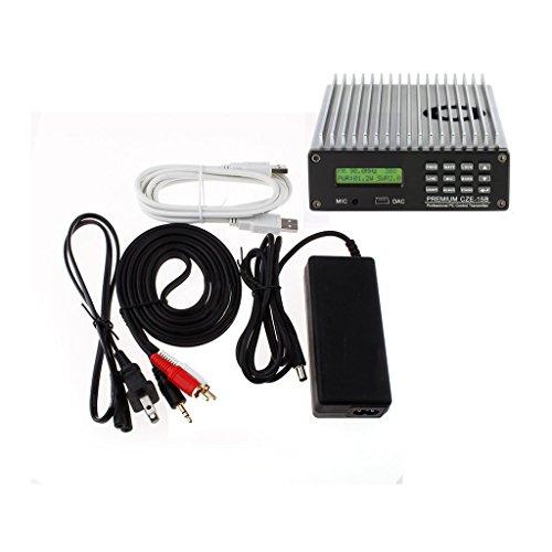 Happy Hours® 0-15W CZE-15B FM Transmitter 0-15w Power Adjustable Radio Broadcaster CD Sound Quality + 1/4 or 1/2 wave 100% AL antenna & Power Adapter Kit Set by Happy Hours®