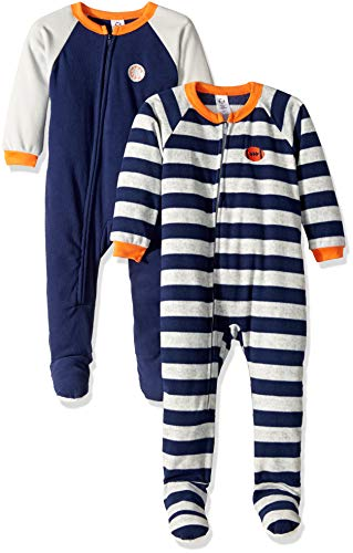- Gerber Boys' 2-Pack Blanket Sleeper, Sport Stripe, 5T