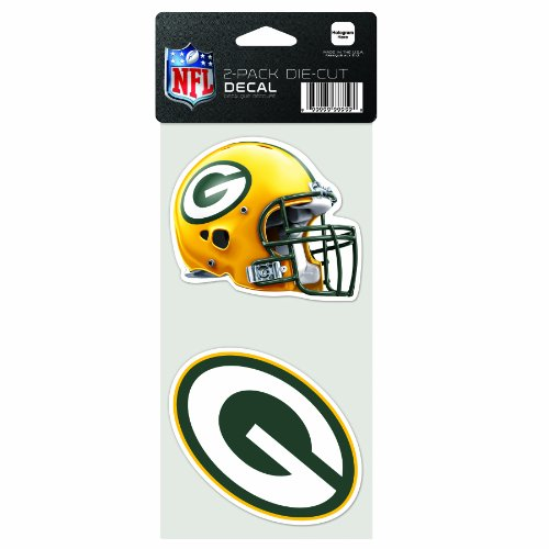 NFL Green Bay Packers 2-Piece Die-Cut Decal, 4