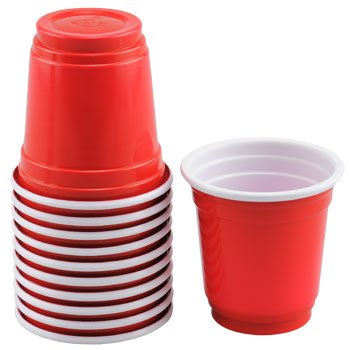 Mini Red Disposable Party Cups ~ 2 Oz Plastic Cups (40 Count)