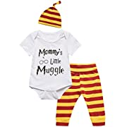3Pcs Outfit Baby Boys Girls Mommy Little Muggle Pant Clothing Set (0-3 Months)