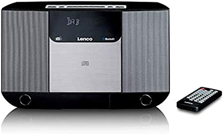 Lenco Dar 045 Compact System Bluetooth Dab And Am Fm Receiver Cd Player 2 X 5 Watt Rms With Wall Mount Black Home Cinema Tv Video