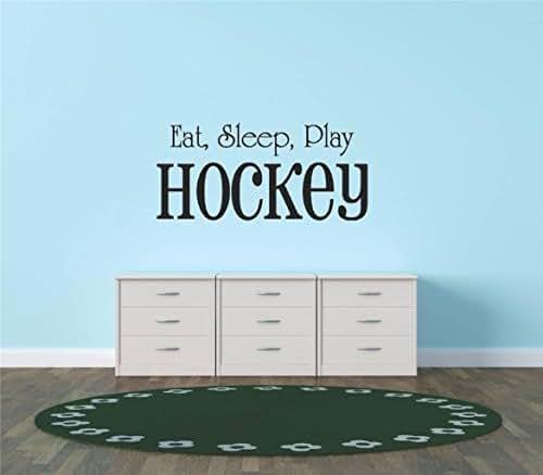 Design with Vinyl Hope 32 Eat Sleep Play Hockey Sport Quote Sign Car Bumper Window Banner Kid Children Boy Girl Team Pride Encouragement Bedroom Decals & Stickers, 15