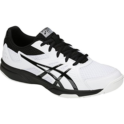Image of ASICS Men's Upcourt 3 Volleyball Shoes, White/Black, Size 6