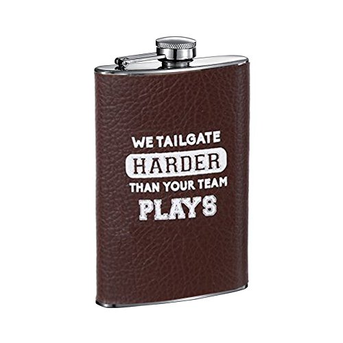 Football Leatherette Texture Tailgating Sayings 8oz for sale  Delivered anywhere in USA