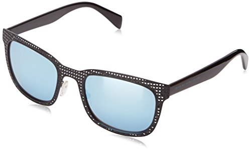 Marc by Marc Jacobs MMJ436S 0MPZ Wayfarer Sunglasses, Matte Black & Shiny Black, 54 - Jacobs Sunglasses Marc Mens