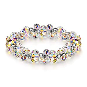 LADY COLOUR Jewelry Gifts for Mom, When in Rome Women Bracelet, 7 Inch Stretch Bracelet with Crystals, Hypoallergenic…