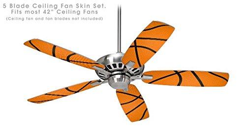 Basketball - Ceiling Fan Skin Kit fits most 42 inch fans (FAN and BLADES NOT (Basketball Fan)