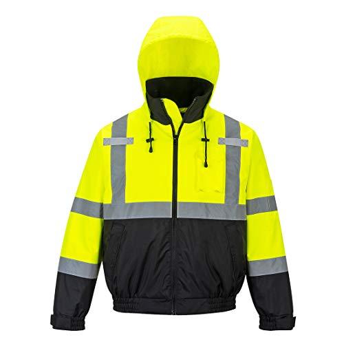 Portwest Hi-Vis Premium Bomber Jacket Viz Insulated Safety Visability Work Wear Rain ANSI 3, X Large from Portwest