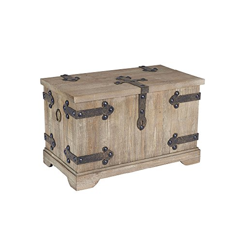 Household Essentials Decorative Victorian Inspired Trunk, Rustic Brown, Small