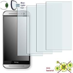 4x DISAGU ClearScreen–Protector de pantalla para HTC One Max Dual SIM antibacteriano, filtro de corte Bluelight–Protector de pantalla