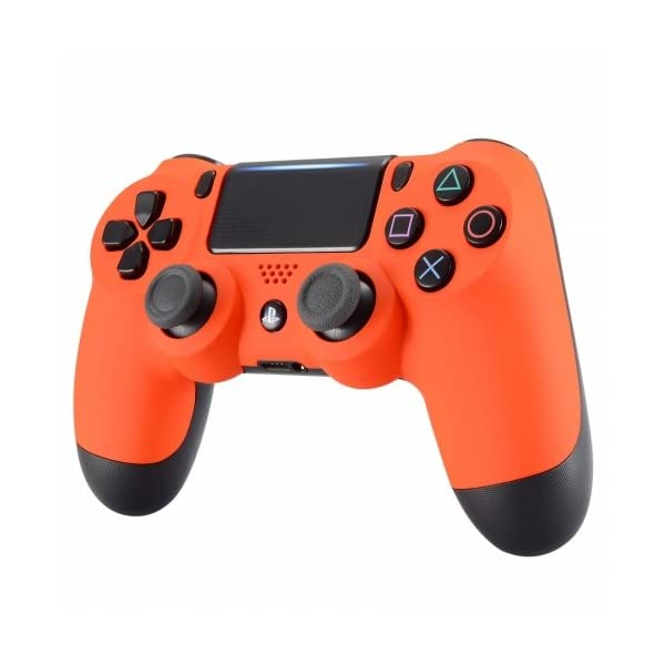 PS4 Dualshock Playstation 4 Wireless Controller Custom Soft Touch New Model (Orange) 3
