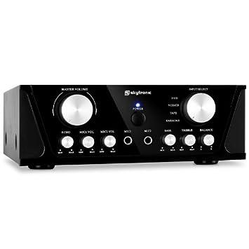Skytronic Amplificador estéreo PA HiFi. 2X50W RMS: Amazon.es: Electrónica
