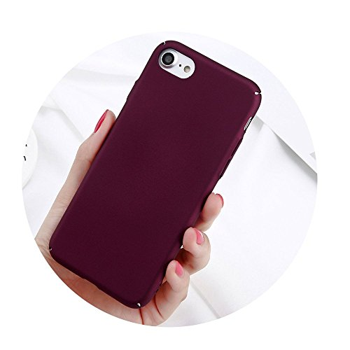 Phone Case For iPhone 6 6s 7 8 Plus Plain Wine Red Frosted Back Cover Cases Wine Red For iPhone 7 Plus