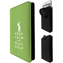 002787 - Keep Calm And Paly Gold Quote LG k3 k4 k8 k19,Q6 G6 V20 V30,VODAFONE E8 N8 E8 turbo 7 prime 7,google pixel 2 Quality Tpu Leather Pull Tab Pouch Case Sleeve Cover