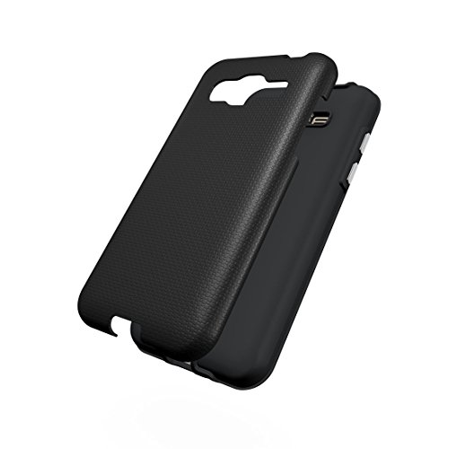 XIAOGUA Cases & Covers, Para Samsung Galaxy J3 (2016) Ball Texture antideslizante PC + TPU funda protectora de la contraportada ( Color : Green ) Black