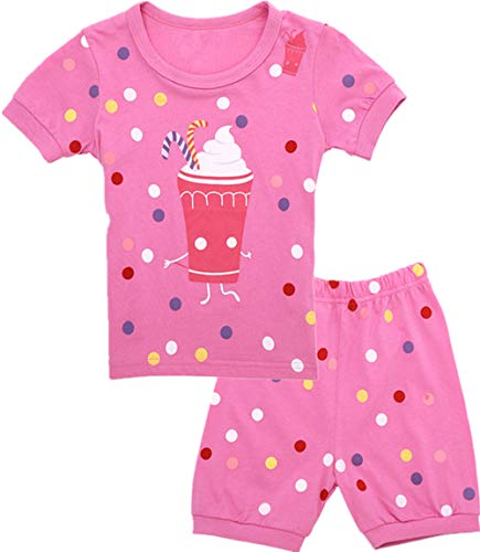 Qtake Fashion Girls Pajamas Set Children Clothes Set 100% Cotton Toddler Pjs Sleepwear Dinosaur PJS Size 12M-12T (icecream3, -